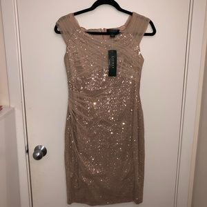 Stunning BRAND NEW Ralph Lauren Gold Dress